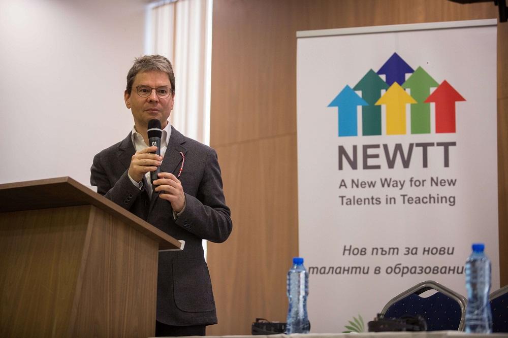 Професор Абс на финалната NEWTT конференция