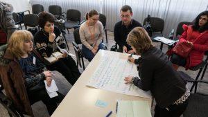 учители по време на обучение за проект FIERST