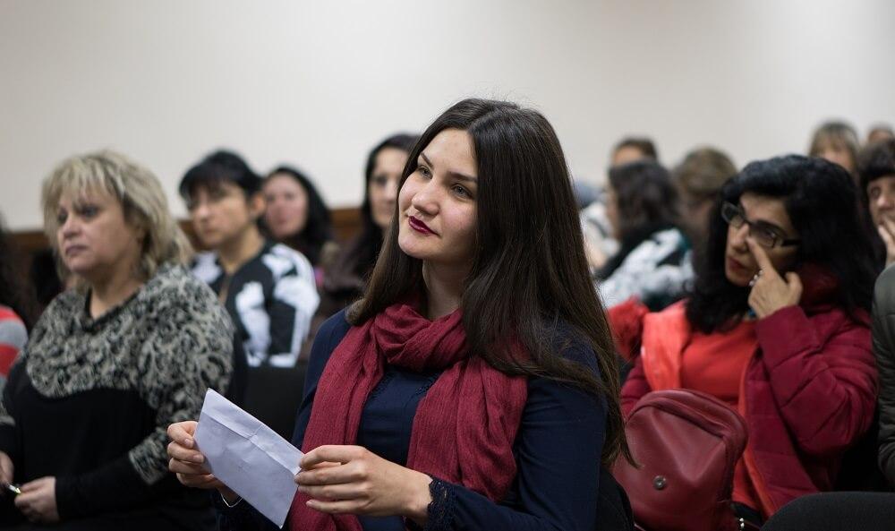 Ванеса Иванова по време на обучение